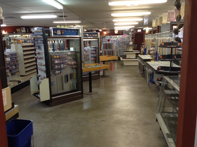 View of the showroom in the Happy Jack's Bead Emporium retail store/showroom  in Roswell NM.