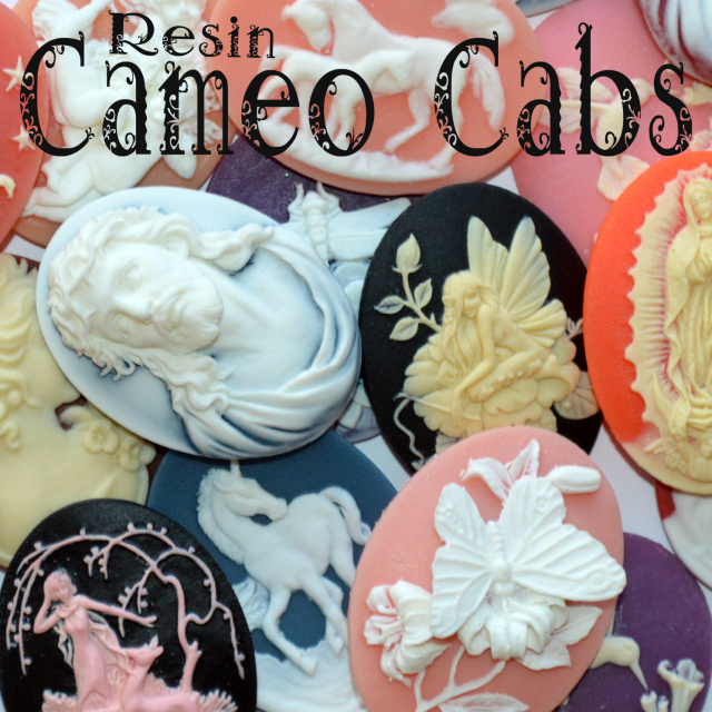 Resin cameo cabochons cabs available at happy jacks bead emporium.