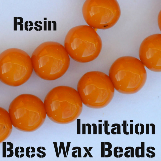 resin imitation bees wax beads, round